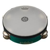 "Remo TA-3010-LR Valencia Lotus Tambourine Aqua 10"" TA3010LR"