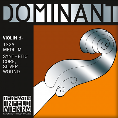 Thomastik-Infeld Dominant Single Violin D String Nylon Core Silver Wound B-E M3066ND 132A