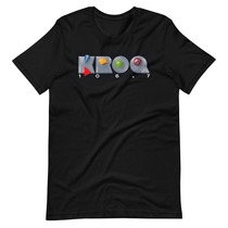 KROQ 106.7 FM Alternative Rock Radio Station Los Angeles 1980s design Short-Sleeve Unisex T-Shirt
