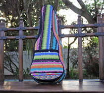 Concert Ukulele Gig Bag Padded Soft Case Native American Multicolor Stripe