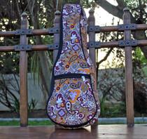 Soprano Ukulele Gig Bag Padded Soft Case Khaki Paisley Pattern