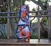 Soprano Ukulele Gig Bag Padded Soft Case Orange Pattern