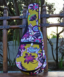Soprano Ukulele Gig Bag Padded Soft Case Mustard Yellow Pattern