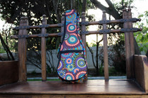 Soprano Ukulele Gig Bag Padded Soft Case Flower Circle Pattern