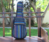 Tenor Ukulele Gig Bag Padded Soft Case Multicolor Knit Stripes