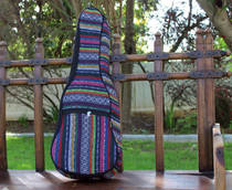 Tenor Ukulele Gig Bag Padded Soft Case Multicolor Knit Hawaiian Style