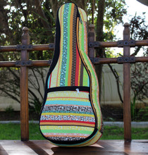 Tenor Ukulele Gig Bag Padded Soft Case Multicolor Yellow Multicolor Stripe
