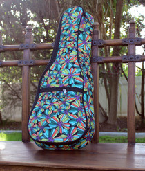 Tenor Ukulele Gig Bag Padded Soft Case Multicolor Jungle Multicolor Pattern