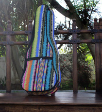 Tenor Ukulele Gig Bag Padded Soft Case Native American Multicolor Stripe
