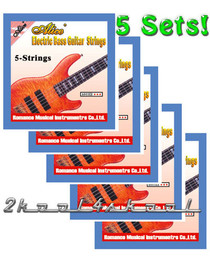 5 sets of 5 string Electric Bass Guitar strings Light