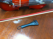 Violin Tailpiece 4 Fine Tuners and Tailgut Gloss Black Steel Fits 4/4 Tail piece