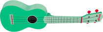 Stagg Soprano Ukulele Green Grass with Gig Bag Full Size Beginner Model Uke
