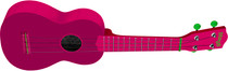Stagg Soprano Ukulele Lips Red with Gig Bag Full Size Beginner Model Uke