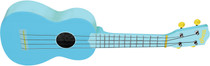 Stagg Soprano Ukulele Ocean Blue with Gig Bag Full Size Beginner Model Uke