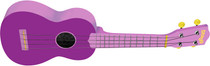 Stagg Soprano Ukulele Violet Purple with Gig Bag Full Size Beginner Model Uke