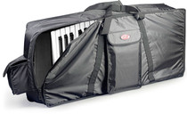 STAGG 46x16x6 Inch Thick Standard Black Nylon Keyboard Bag