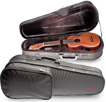 STAGG Strong Black Nylon Basic Soft Case For Concert Ukulele