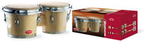 "STAGG 7.5"" and 6.5"" Natural Finish Traditional Wood Bongos"