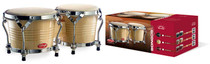 "STAGG Bongos Natural Finish 7.5"" & 6.5"" Latin Percussion Wood Bongo Drums"