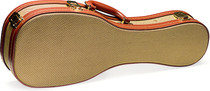 STAGG Gold Tweed Instrument-shaped Deluxe Hard Case For Baritone Ukulele