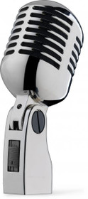 Dynamic Microphone 50'S Elvis Style Silver Chrome Finish Vocal Mic Live/Studio