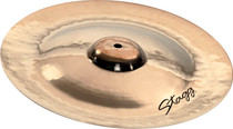"STAGG 16"" Dual Hammered Brilliant China Crash Cymbal - Dynamic overtones"