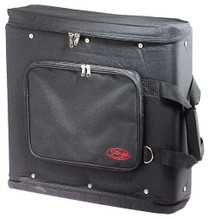STAGG Black Carrying Bag for 2 Unit Rack Plus 2 Front Rails for Rack Mount