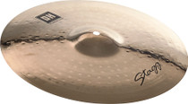 "STAGG 15"" Dual Hammered Medium Crash Cymbal - Dynamic overtones"