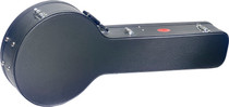 STAGG Black Vinyl Coverd Instrument Shaped Hard Case for 5 String Banjo