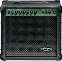 "STAGG 20W RMS/110V Guitar Amplifier Plus 1x8"" Speaker and 3 Band EQ"