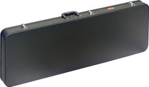 STAGG Basic Black Square Shaped Hardshell Hard Case for Electric Bass Guitar