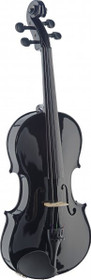 Stagg 4/4 Handcrafted Solid Maple Violin W/ Standard-Shaped Soft-Case Black