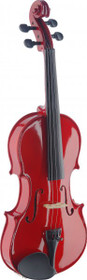 Stagg 4/4 Handcrafted Solid Maple Violin W/ Standard-Shaped Soft-Case Red