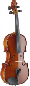 STAGG 1/2 Solid Maple Violin with Ebony Fingerboard and Shaped Soft-Case