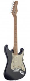 Stagg Vintage Style Electric Guitar Black Solid Alder Body Ses50M-Bk