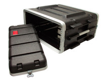 STAGG Lightweight Sealed ABS Rack Case for 4-Unit 4U 4 Space