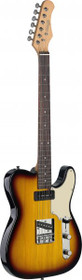 Stagg Vintage Series T Custom Electric Guitar Brown Sunburst Solid Alder Body
