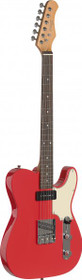 Stagg Vintage Series T Custom Electric Guitar Fiesta Red Solid Alder Body