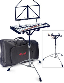 STAGG Percussion Bell Set In Ergonomic Nylon Gigbag Xylophone Glockenspiel