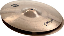 "STAGG 14"" Dual Hammered Fat Hi-Hat Cymbals Pair Hihat - Dynamic overtones"