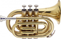 Stagg Bb Pocket-Trumpet W/Abs Case Gold Lacquer W 3Rd Valve Slide Ws-Tr245