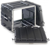 STAGG ABS-8U Rack Case 8-Unit 8 Space w Front and Back Rails Black