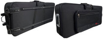 STAGG Soft Case for Keyboard w/Transport Wheels+Handle
