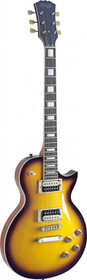 Stagg LP style Electric Guitar Zebra Mahogany Maple 2 tone Sunburst