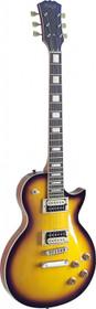Stagg LP style Electric Guitar Zebra Mahogany Maple 2 tone Sunburst