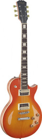 Stagg LP style Electric Guitar Zebra P/U Mahogany Maple Cherry Sunburst