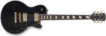 STAGG Classic Rock LP Black Electric Guitar with 2x Humbucker Pickups