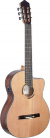Angel Lopez Eresma Acoustic-Electric Classical Guitar Cutaway W/ Solid Cedar Top