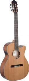 Eresma Acoustic-Electric Classical Guitar Cutaway Solid Cedar Top Hybrid Neck
