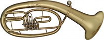 Bb Baritone Horn 3 Rotary Valve W Case Gold Lacquer - Leadpipe In Gold Brass